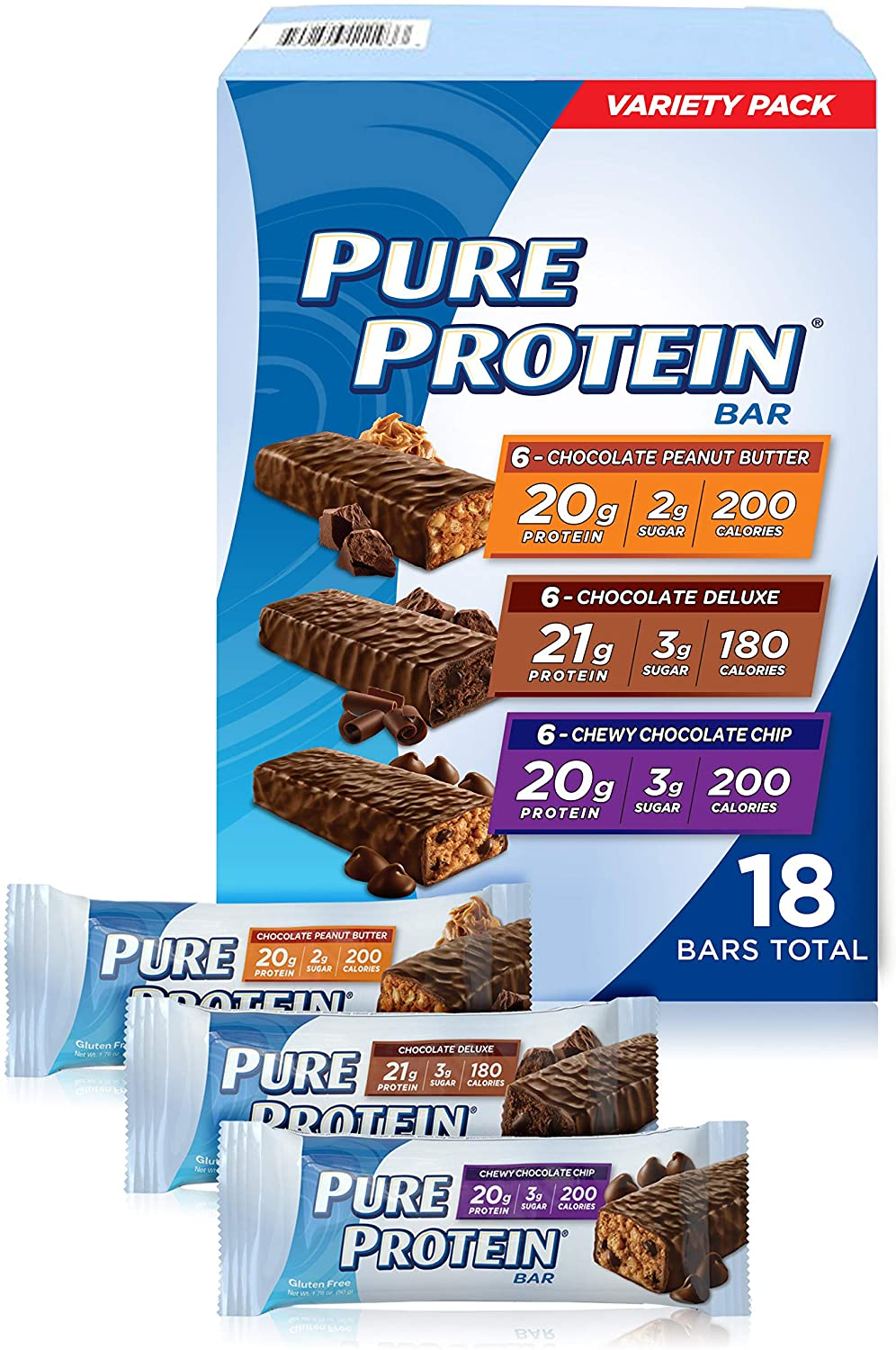 Pure Protein Bars, Chocolate Variety Pack