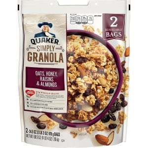 Quaker Honey Quaker Natural Oats Granola, Raisins & Almonds