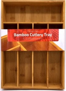 Utopia Kitchen Bamboo Silverware Organizer Tray