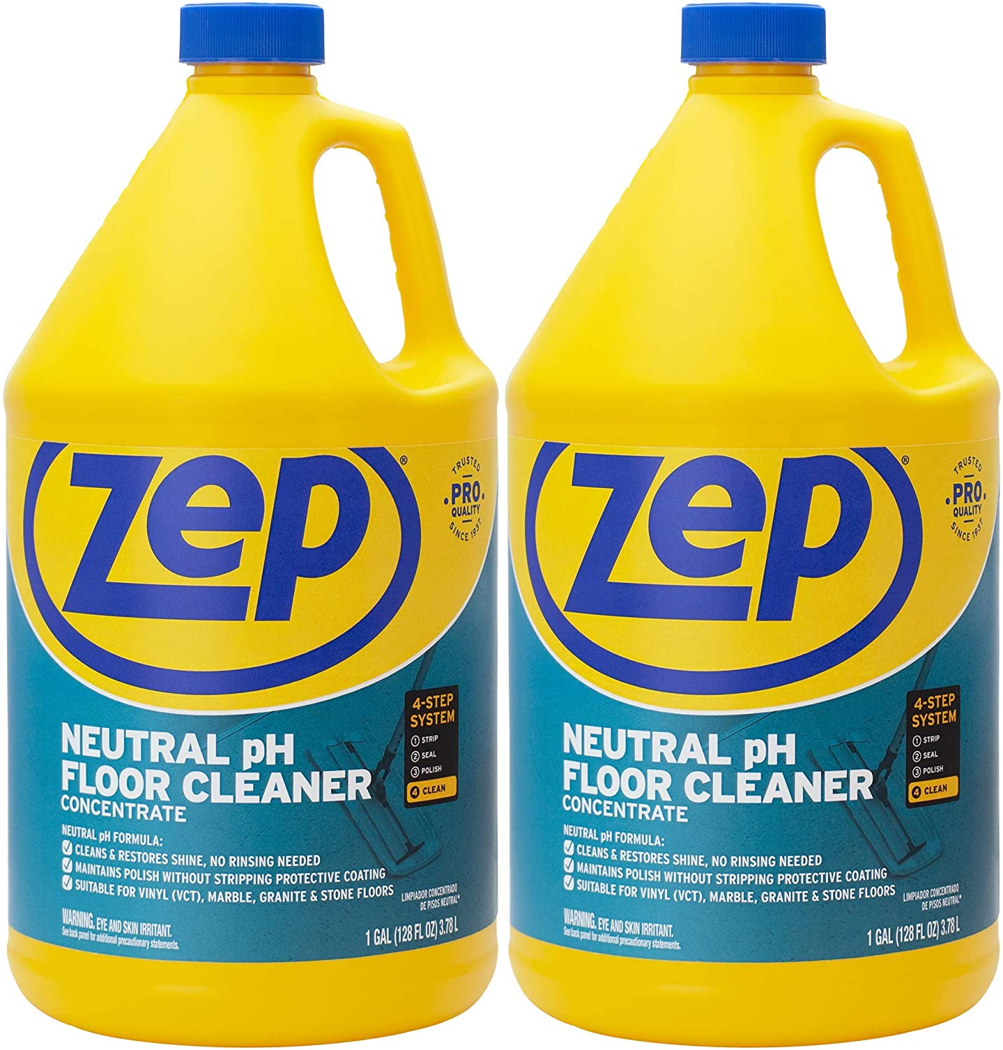 Zep Neutral pH No Residue Floor Cleaner Mopping Solution, 2-Pack
