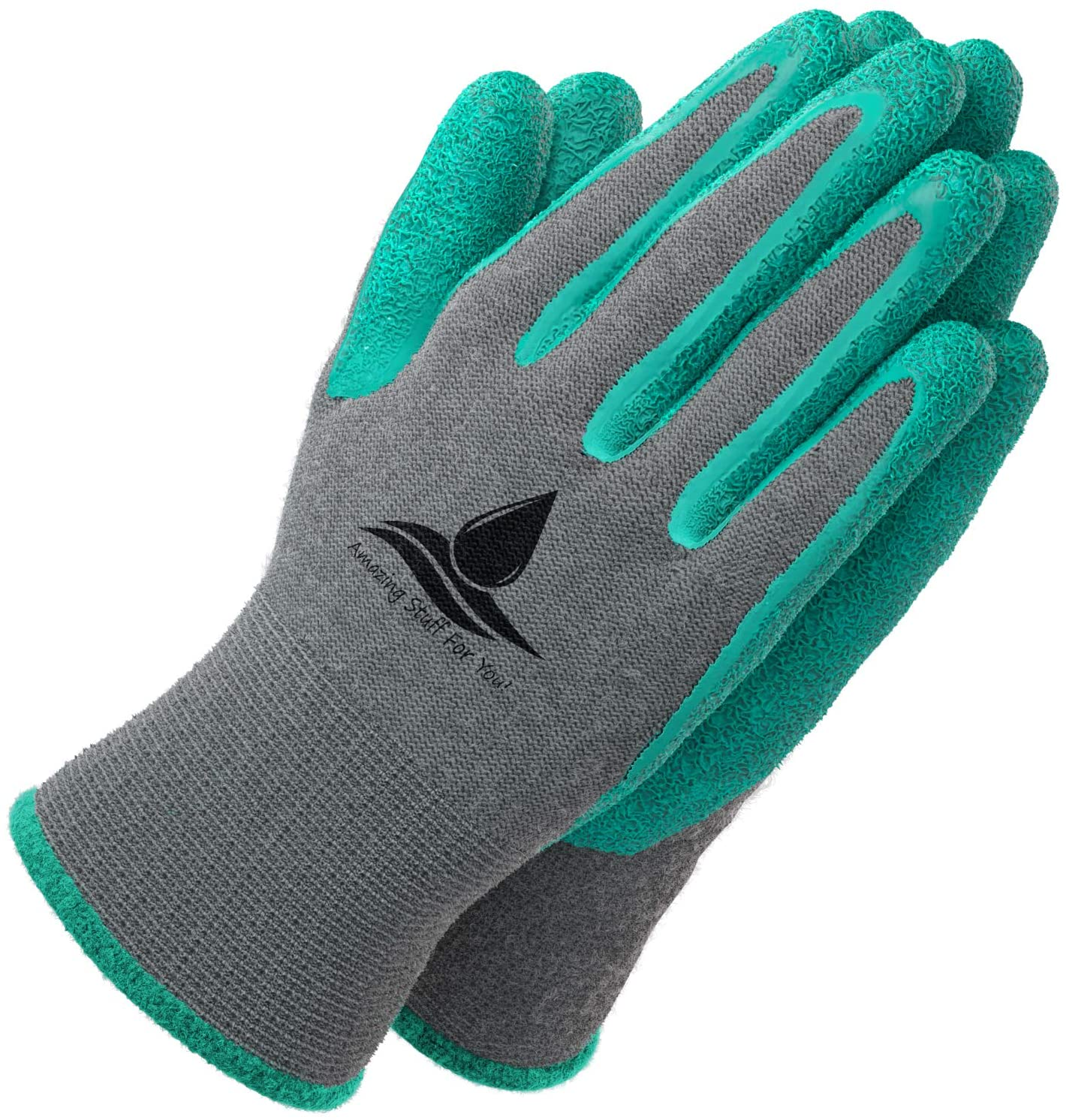 Amazing Stuff For You Coated Super Grippy Gardening Gloves, 2-Pair