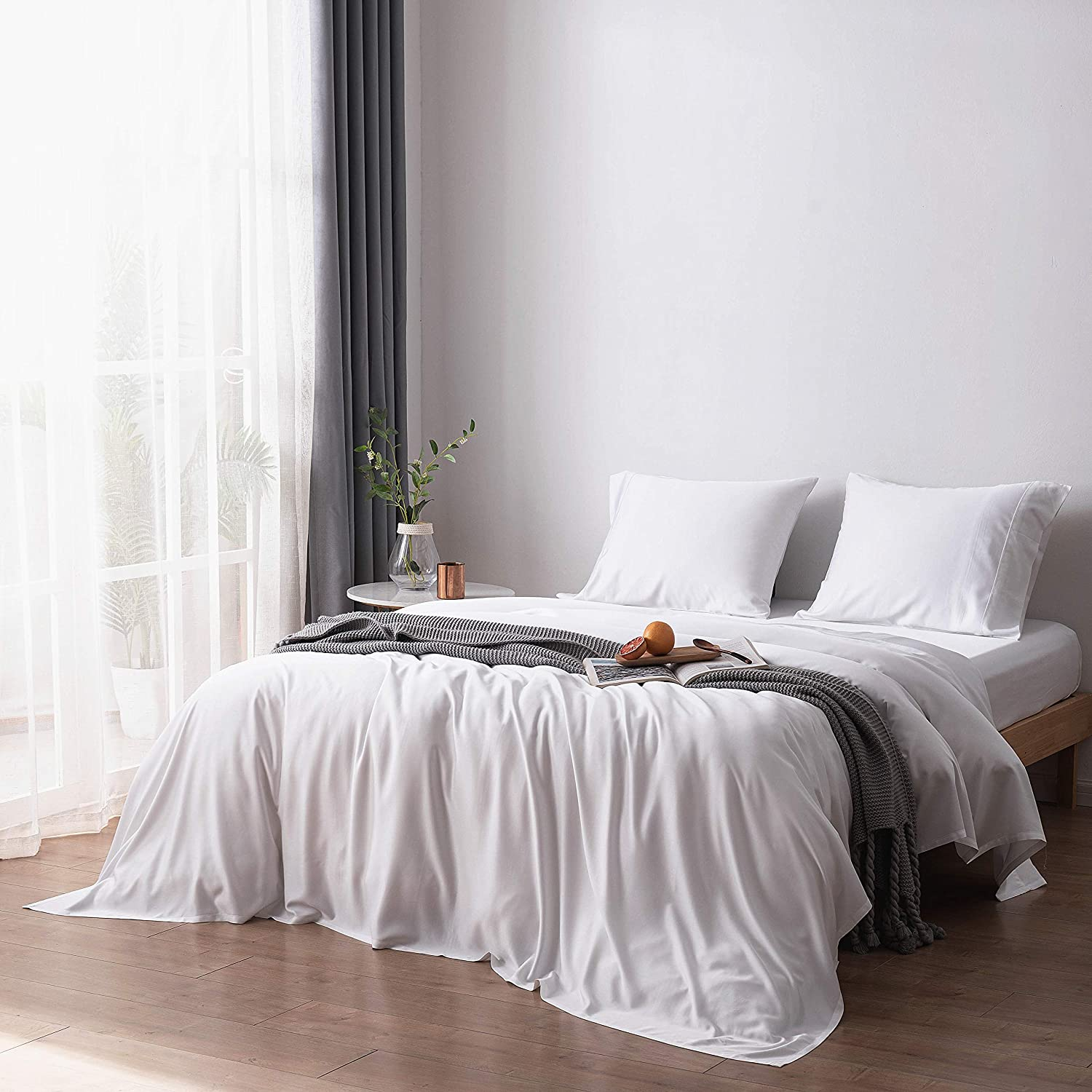 Bamtek 100% Organic 300TC Sateen Bamboo Sheet Set