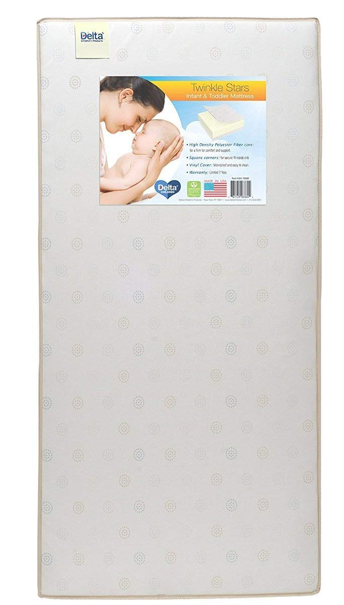 Delta Children Twinkle Stars Fiber Core Crib Mattress