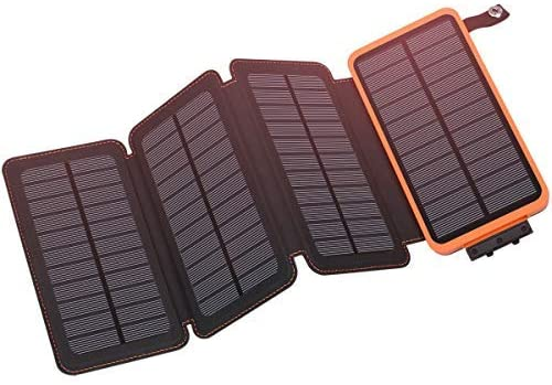 Hiluckey 25000mAh Outdoor Portable Solar Window Charger, 4-Panel