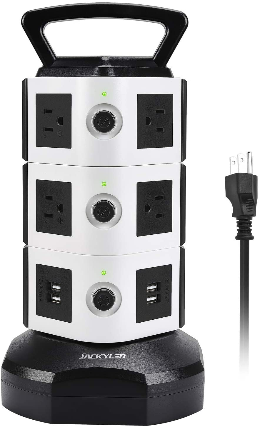JACKYLED Power Strip Tower, 14-Ports