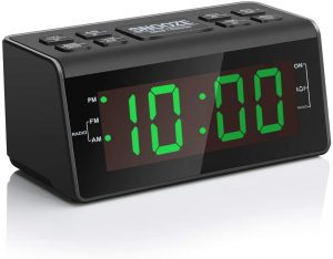 Jingsense Easy Snooze Dimmer & Battery Backup Alarm Clock Radio