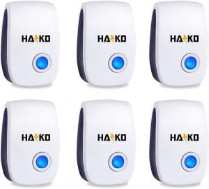 KEXMY Ultrasonic Non-Toxic & Humane Outdoor Pest Deterrent, 6-Pack