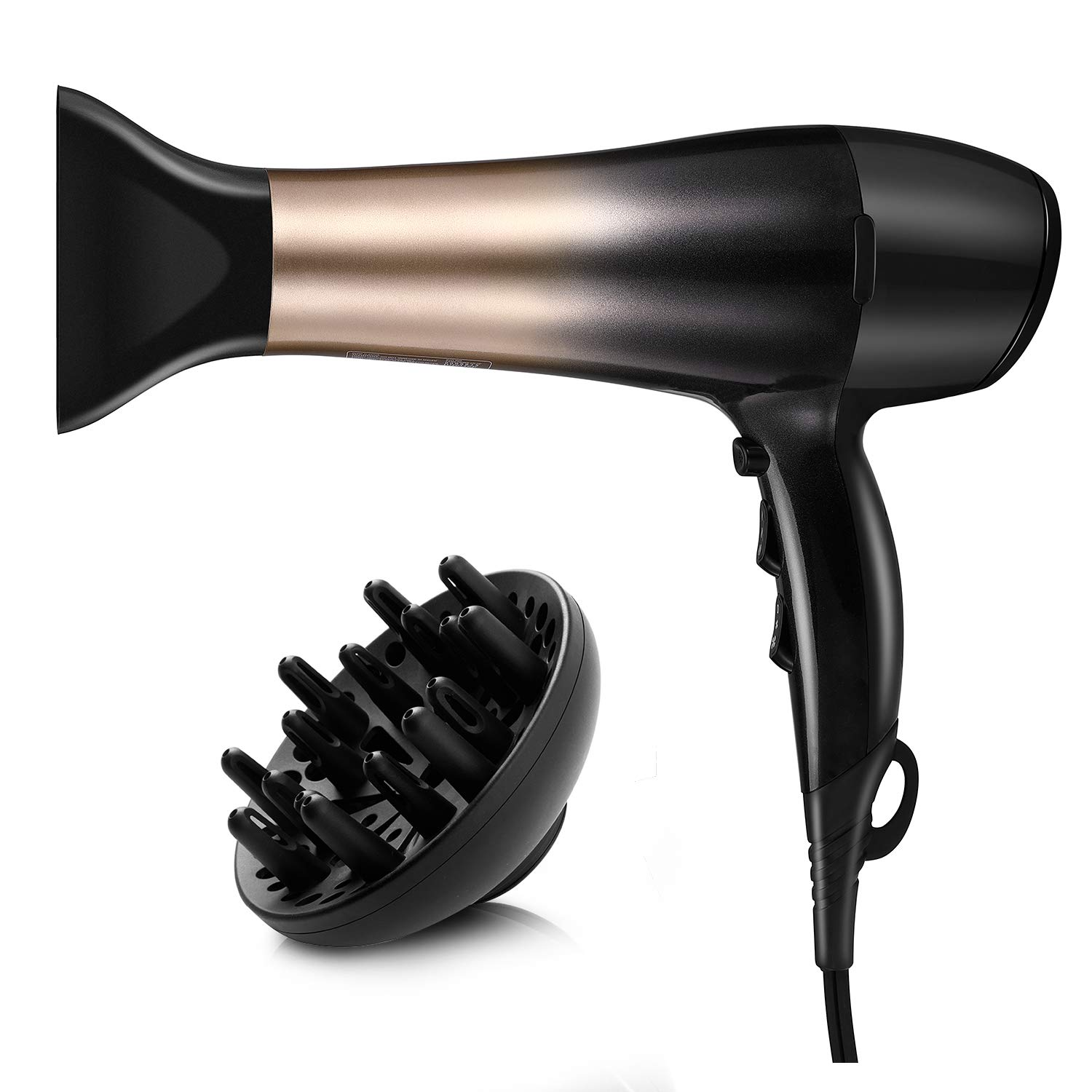 KIPOZI 1875-Watt Nano Ionic Low Noise Lightweight Hair Dryer