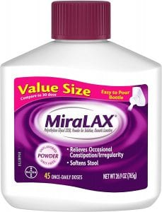 MiraLAX Stimulant-Free Laxative Powder Stool Softener