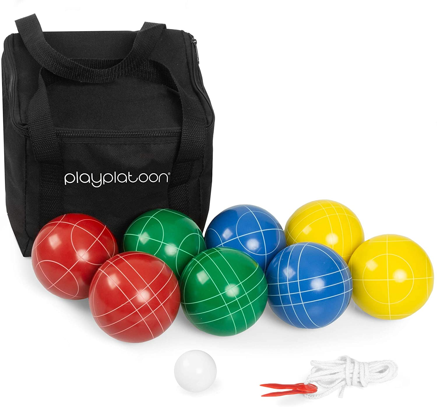 Play Platoon Pallino Carry Bag & Measuring Rope Bocce Ball Set