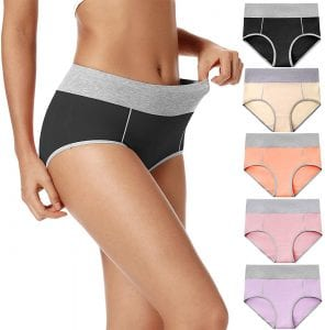 POKARLA Women's Cotton Hipster High Waist Underwear