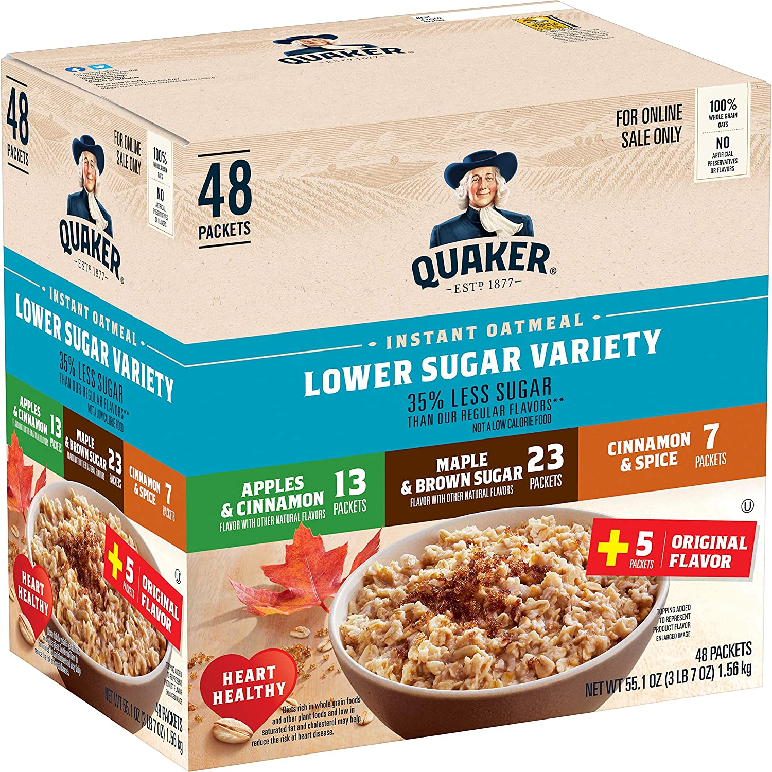 Quaker Instant Oatmeal Variety Pack Hot Cereal