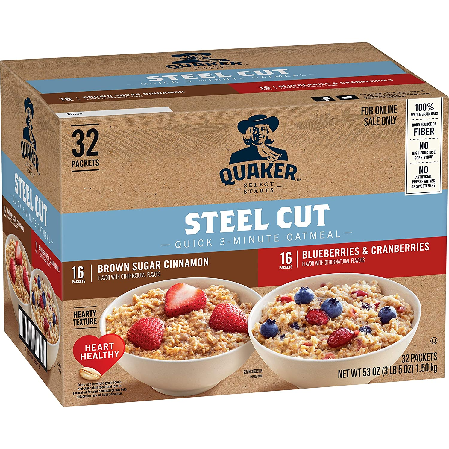 Quaker Quick Steel Cut Variety Hot Cereal