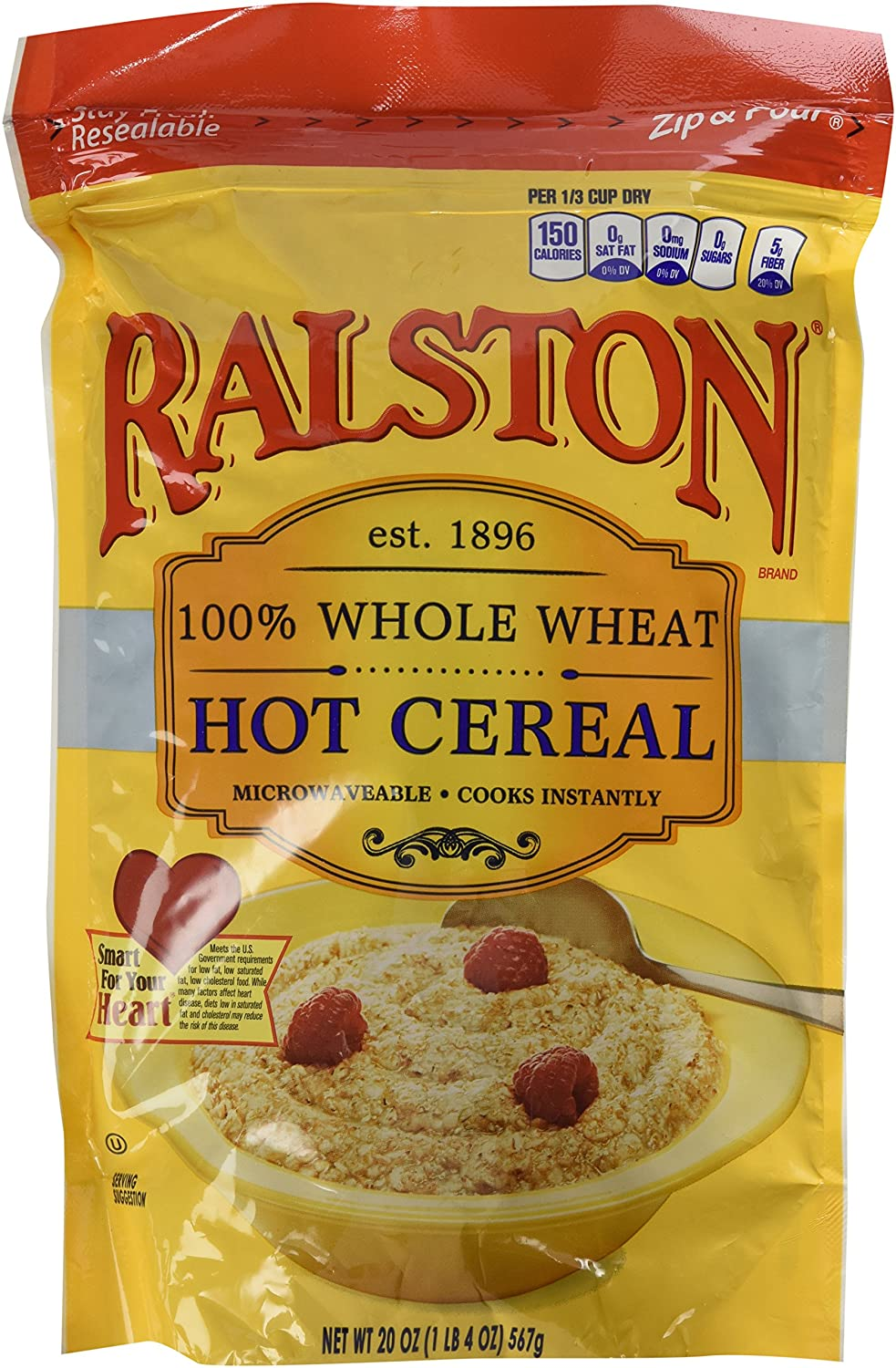 Ralston 100% Whole Wheat Hot Cereal, 3-Pack