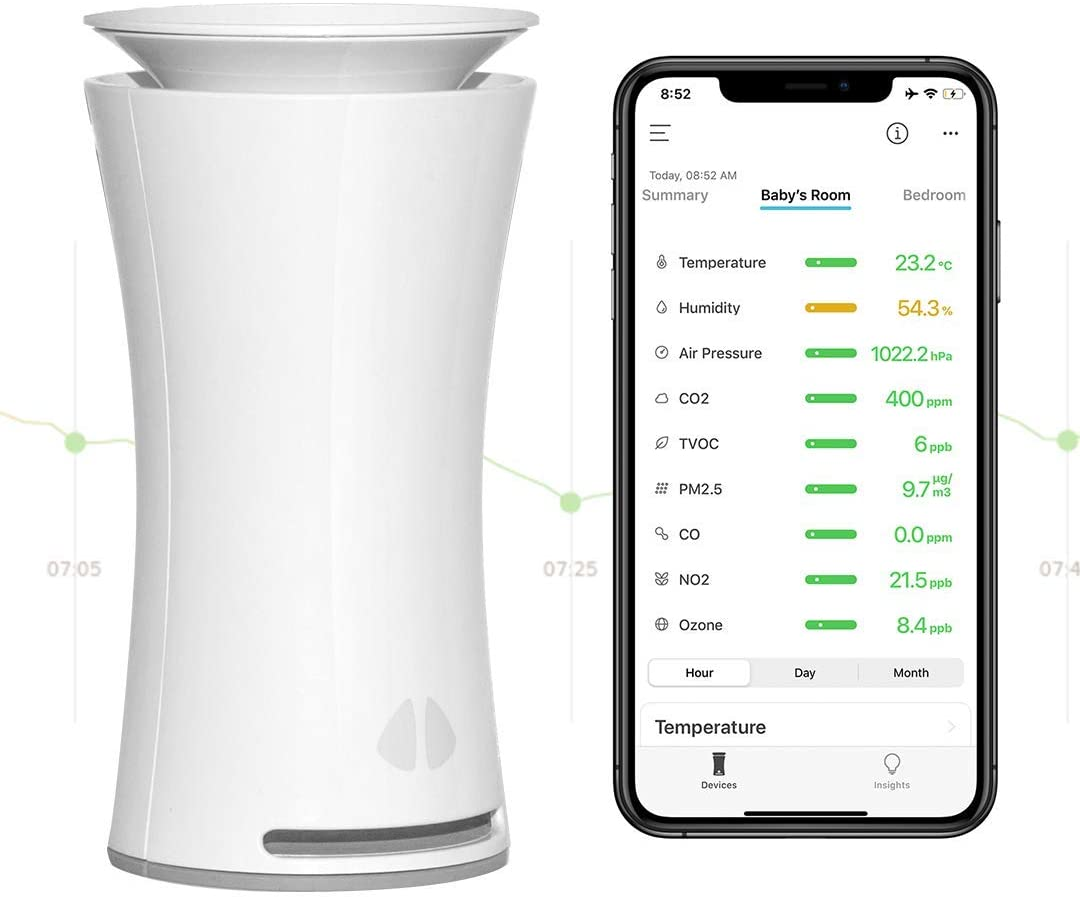 UHOO Indoor 9-In-1 Smart Temperature & Humidity Air Quality Monitor