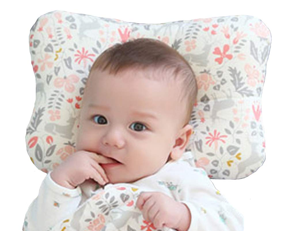 W WelLifes Breathable 3D Air Mesh Organic Cotton Baby Pillow