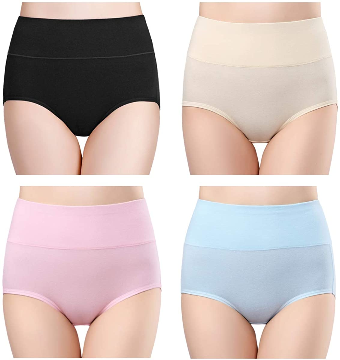 Wirarpa Women's Breathable Full Coverage High Waist Underwear
