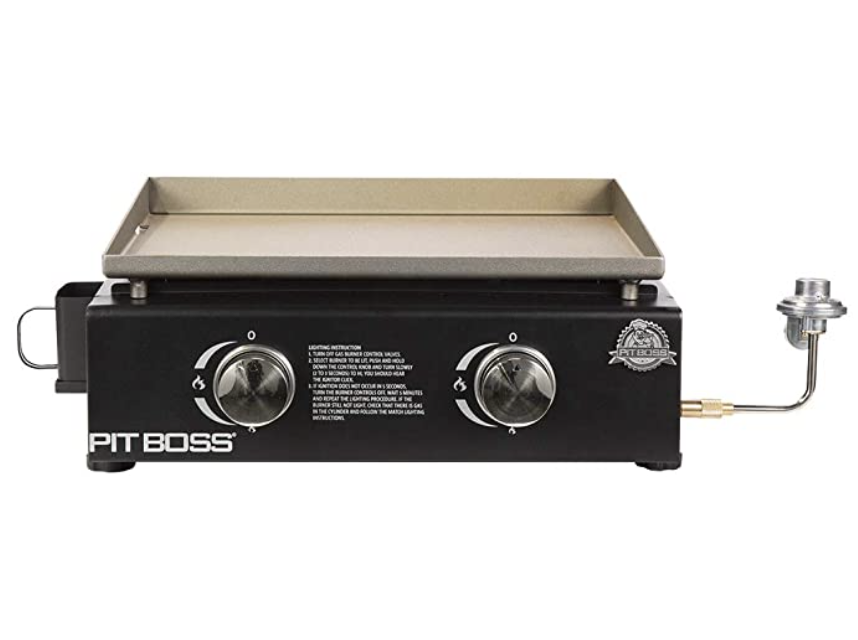 PIT BOSS PB336GS 2-Burner Table Top Cast Iron Gas Griddle