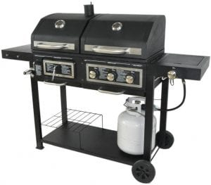 BLOSSOMZ Dual Fuel Combination Charcoal & Gas Grill
