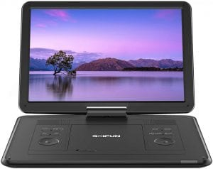 BOIFUN Rechargeable Multiple Disc Portable DVD Player, 17.5-Inch