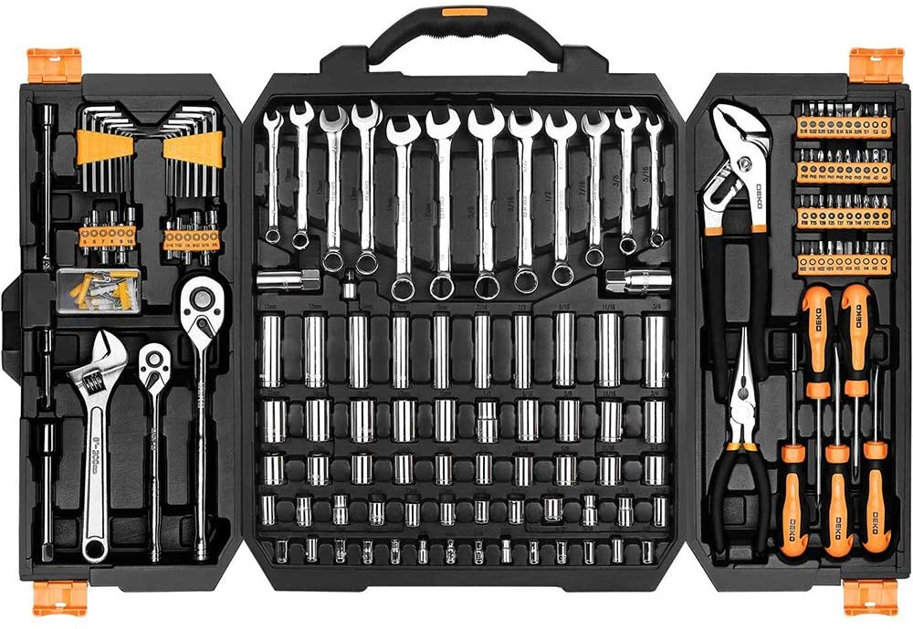 DEKOPRO Auto Repair Mechanics Tool Set, 192-Piece