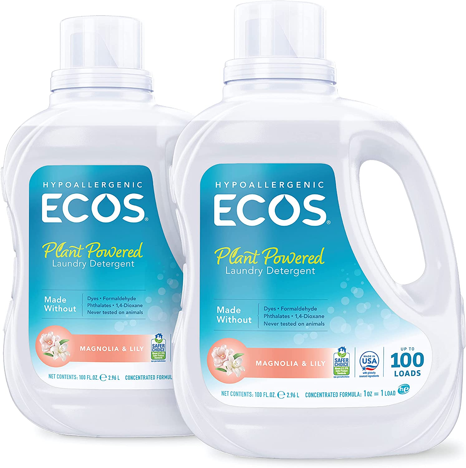 ECOS Earth Friendly Products 2X Liquid Laundry Detergent, 2-Pack