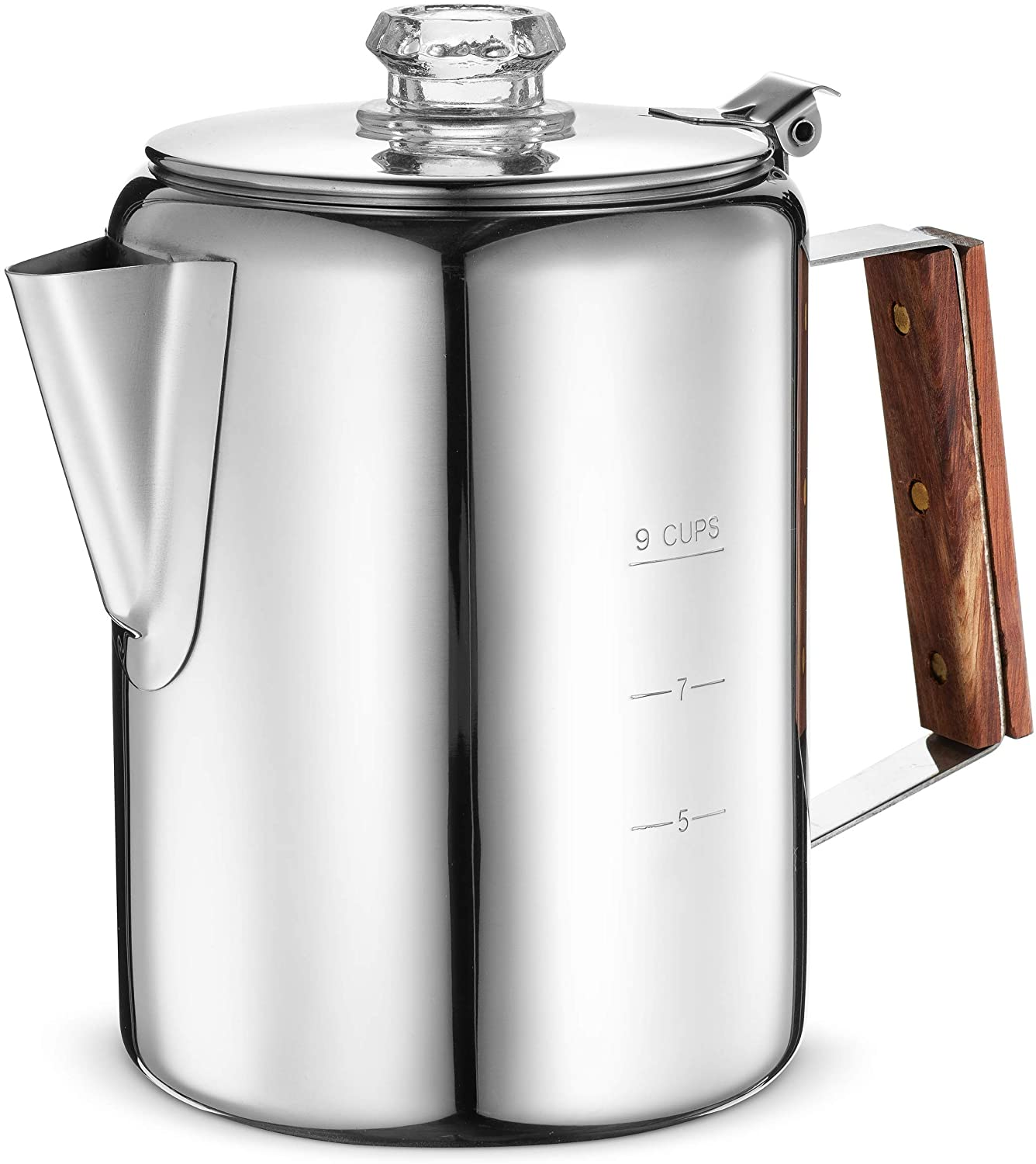 Eurolux Durable Stainless Steel Coffee Percolator, 9-Cup