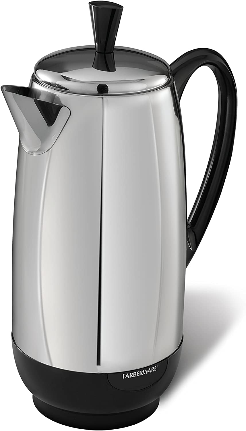 Farberware FCP412 Stainless Steel Coffee Percolator, 12-Cup