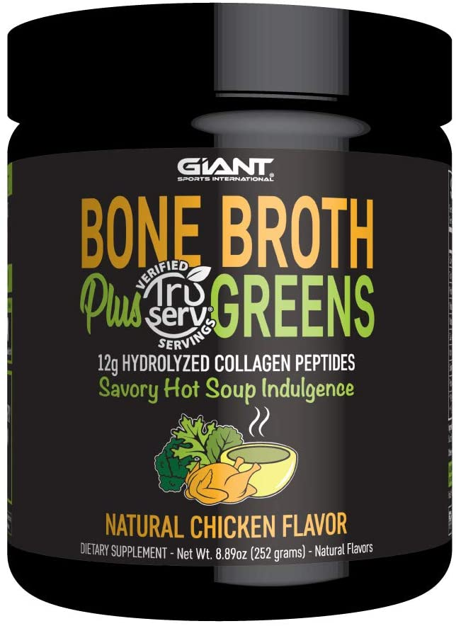 Giant Sports Bone Broth Plus Greens Protein Powder