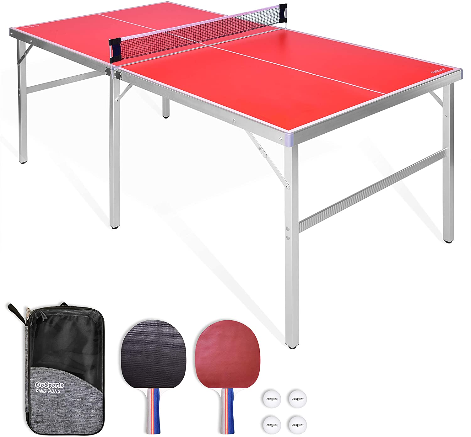 GoSports Mid-Size Table Tennis Game Set