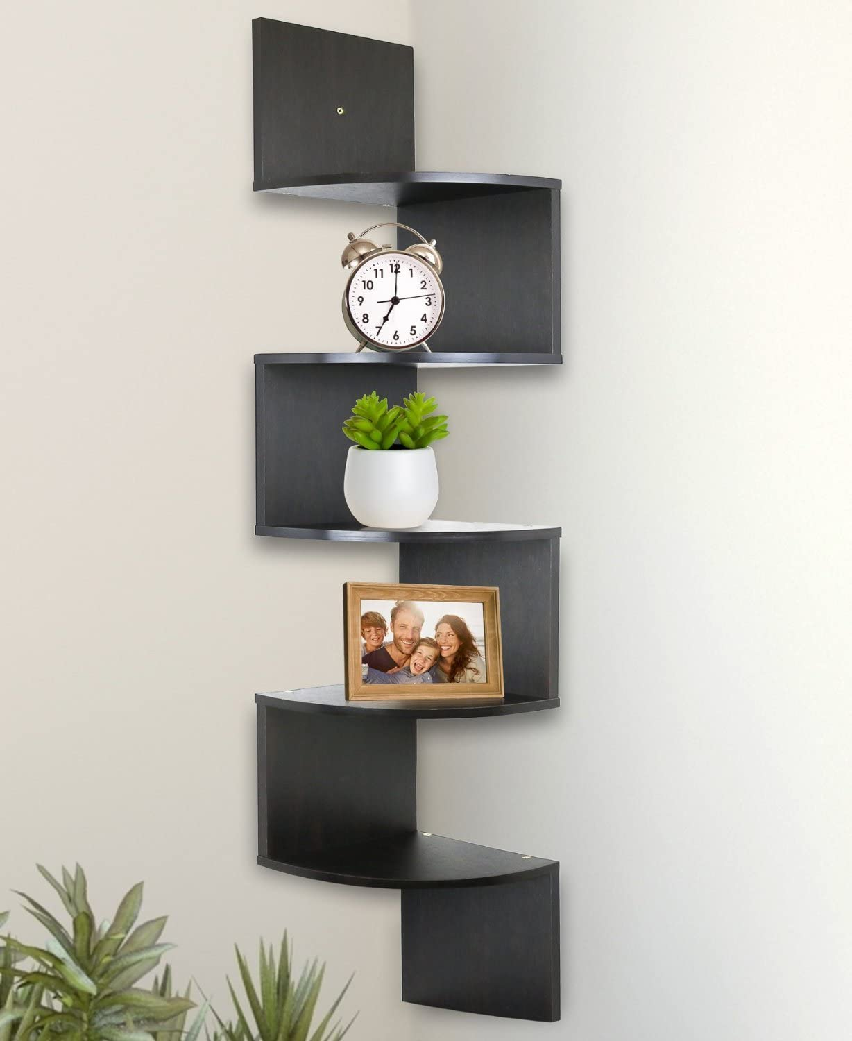 Greenco 5-Tier Corner Hanging Bookshelves