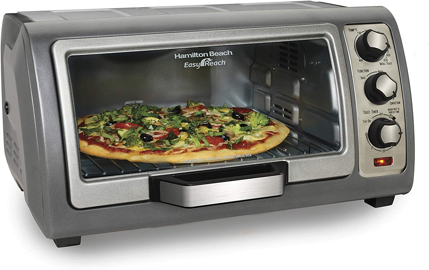 Hamilton Beach 31123D Easy Reach Roll-Top Door Countertop Toaster Oven