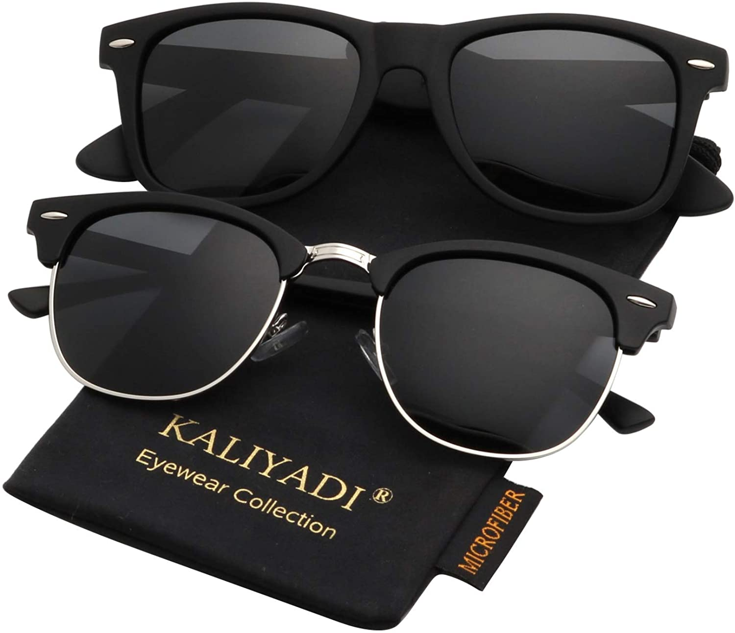 KALIYADI Semi-Rimless Unisex Polarized Sunglasses