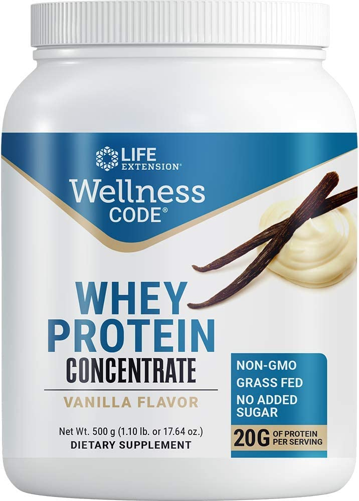 Life Extension Wellness Code Vanilla Whey Protein Concentrate