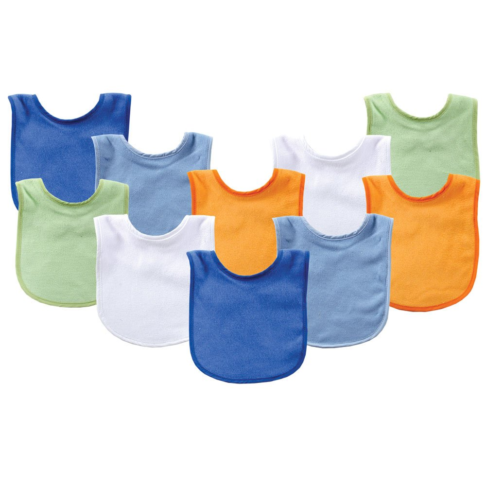 Luvable Friends Unisex Cotton Terry Baby Bib