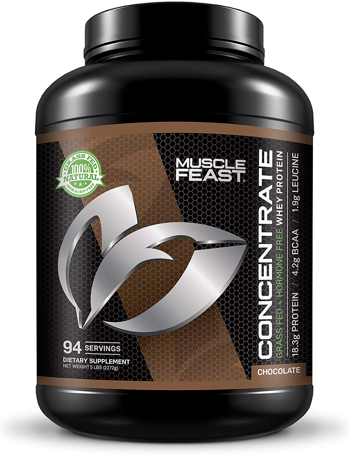 Muscle Feast Hormone Free Grass Fed Chocolate Whey Protein Concentrate