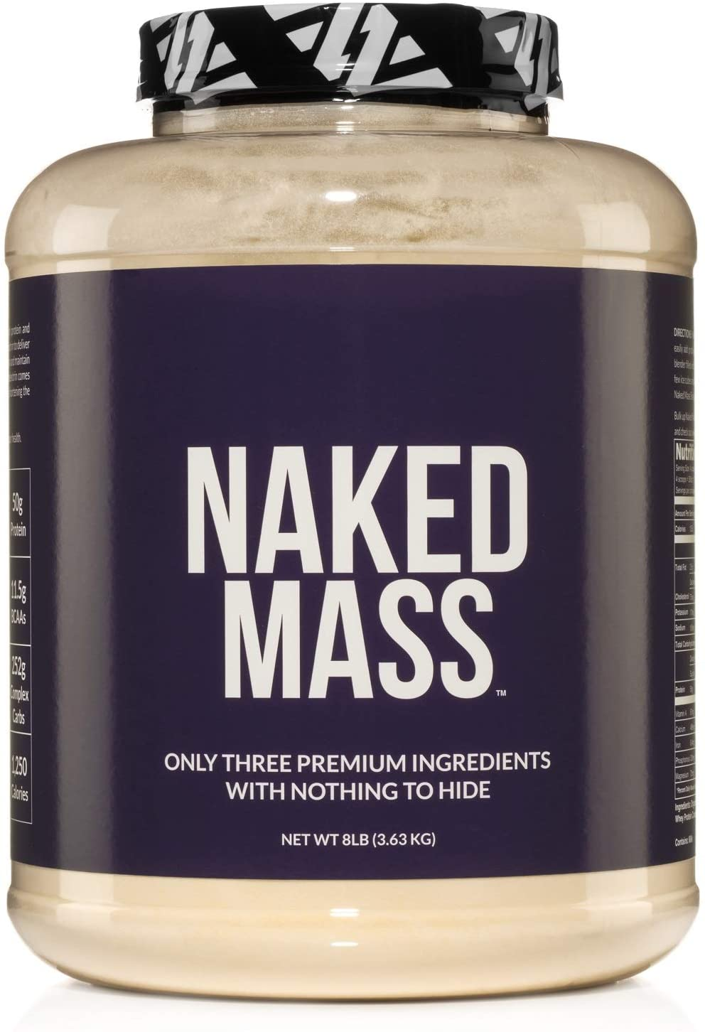 NAKED Nutrition NAKED Mass Weight Gainer Protein Powder, 8-Pound