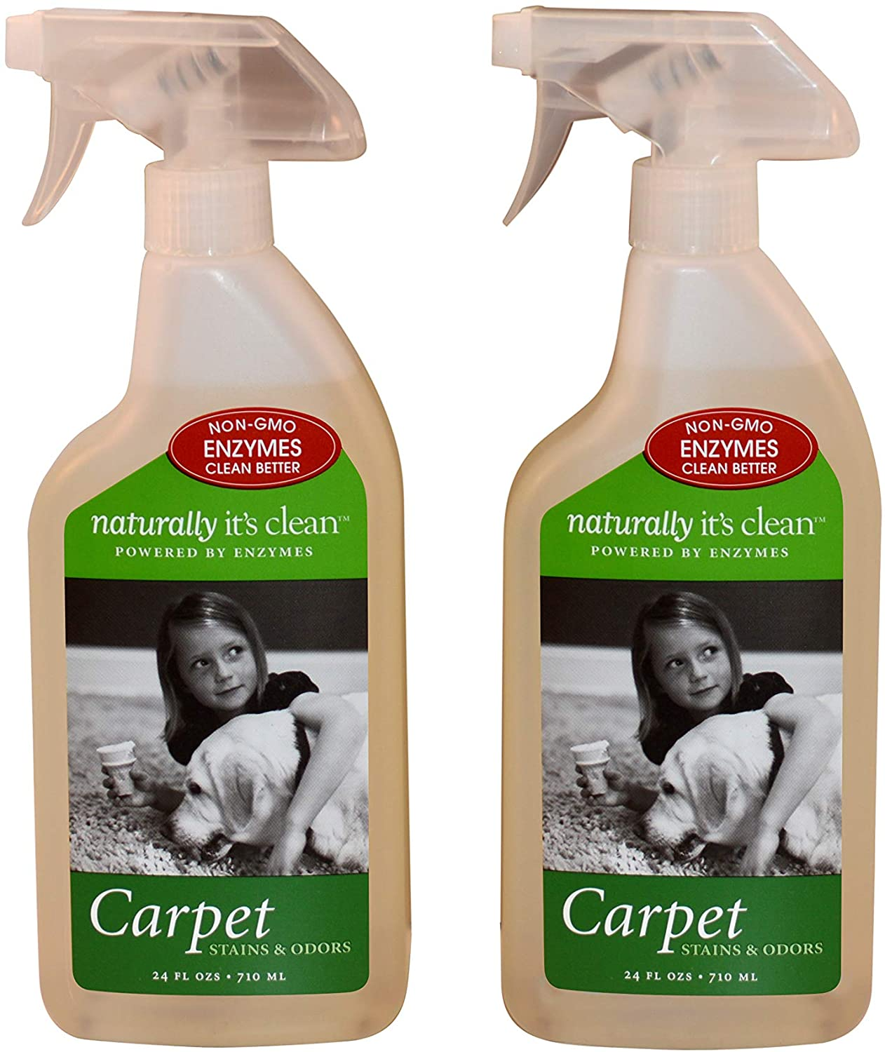 Naturally It's Clean Odor Cleaner Plant Based Enzyme Carpet Stain Remover