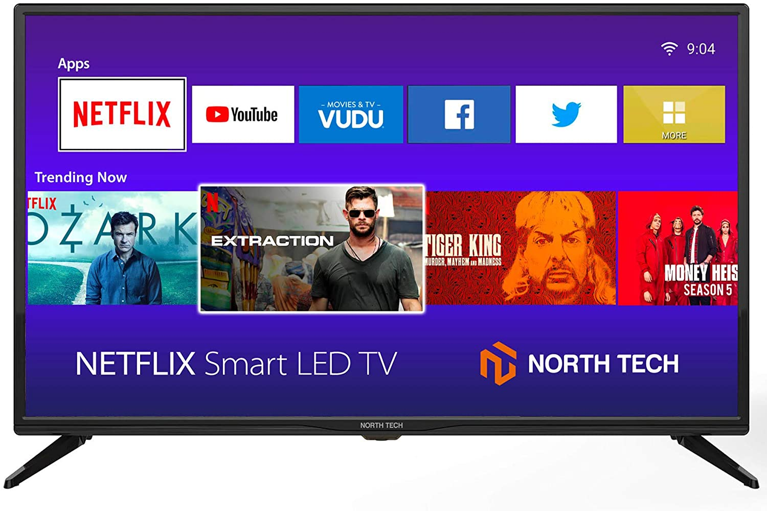 NT North Tech LED HD Streaming Smart TV, 32-Inch