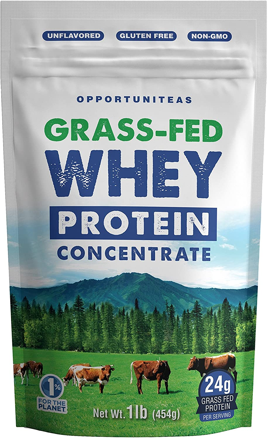 Opportuniteas Wisconsin Grass Fed Premium Unflavored Whey Protein Concentrate