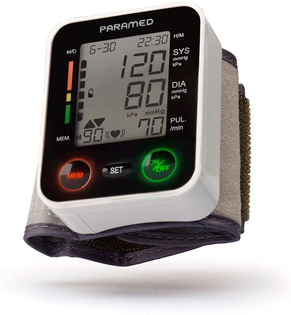 Paramed Irregular Heartbeat Detector Large LCD Display Blood Pressure Monitor