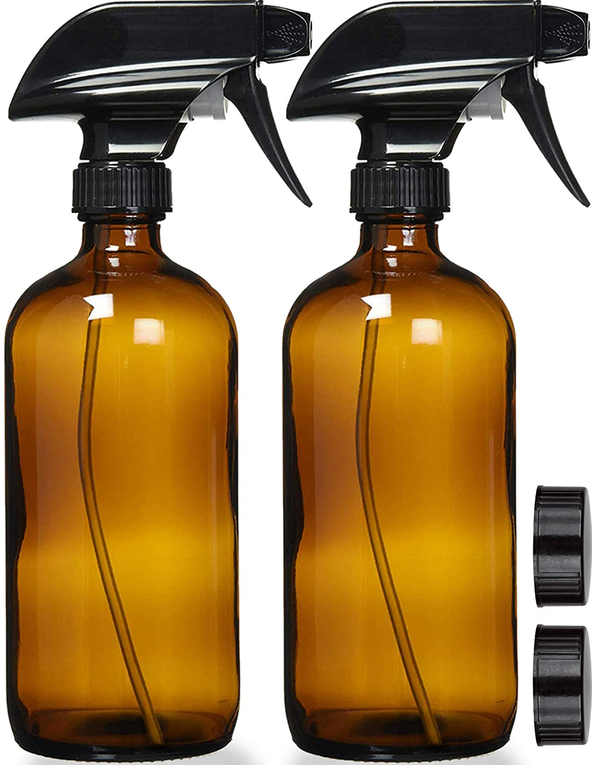 Sally's Organics Amber Glass Spray Bottle, 2-Pack