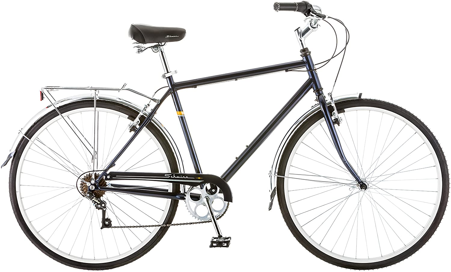 Schwinn Wayfarer Mens & Womens Hybrid Retro-Styled Commuter Bike, 7-Speed