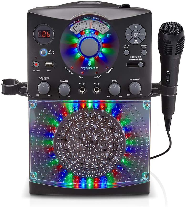 Singing Machine SML385UBK Bluetooth Karaoke Machine
