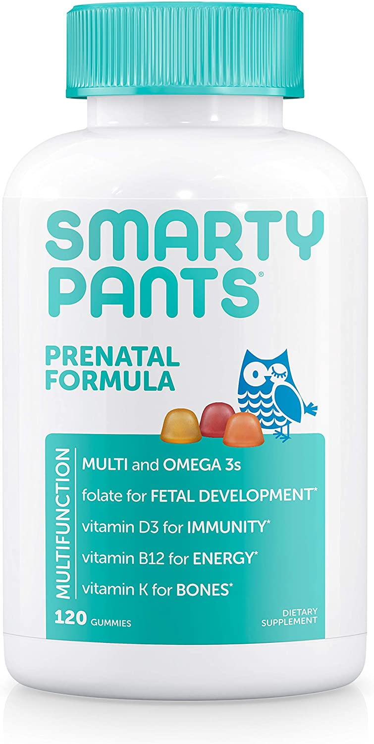 SmartyPants Omega 3 Fish Oil Daily Gummy Prenatal Vitamin, 120-Count