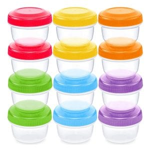 WEESPROUT Leakproof Baby Food Storage Set, 12-Pack