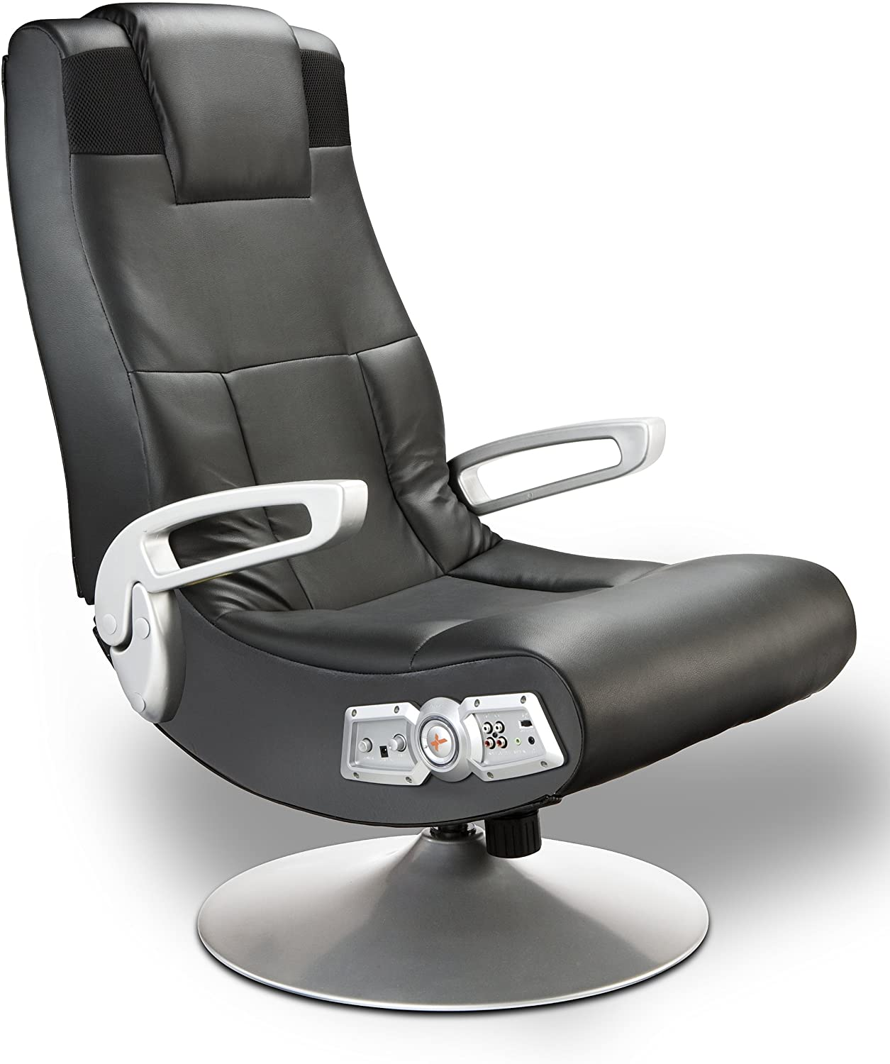 X Rocker SE 2.1 Leather Pedestal Base Video Gaming Chair