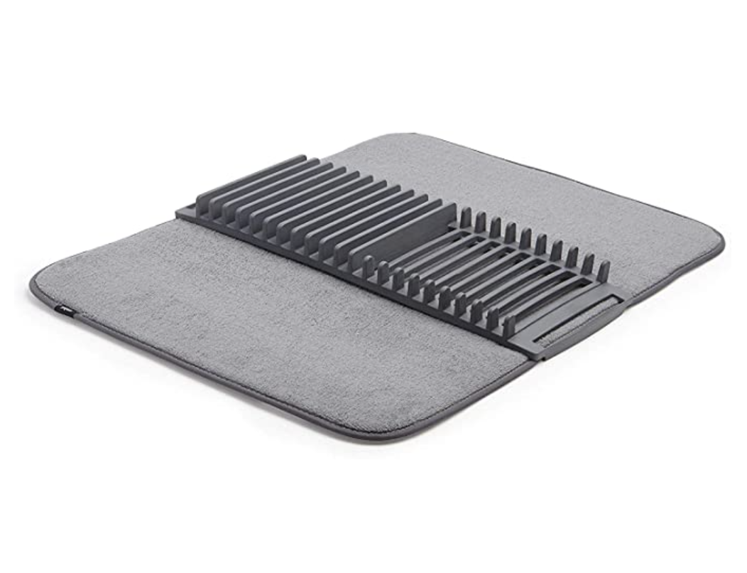 Umbra Udry Rack & Microfiber Dish Drying Mat, 24×18-Inch