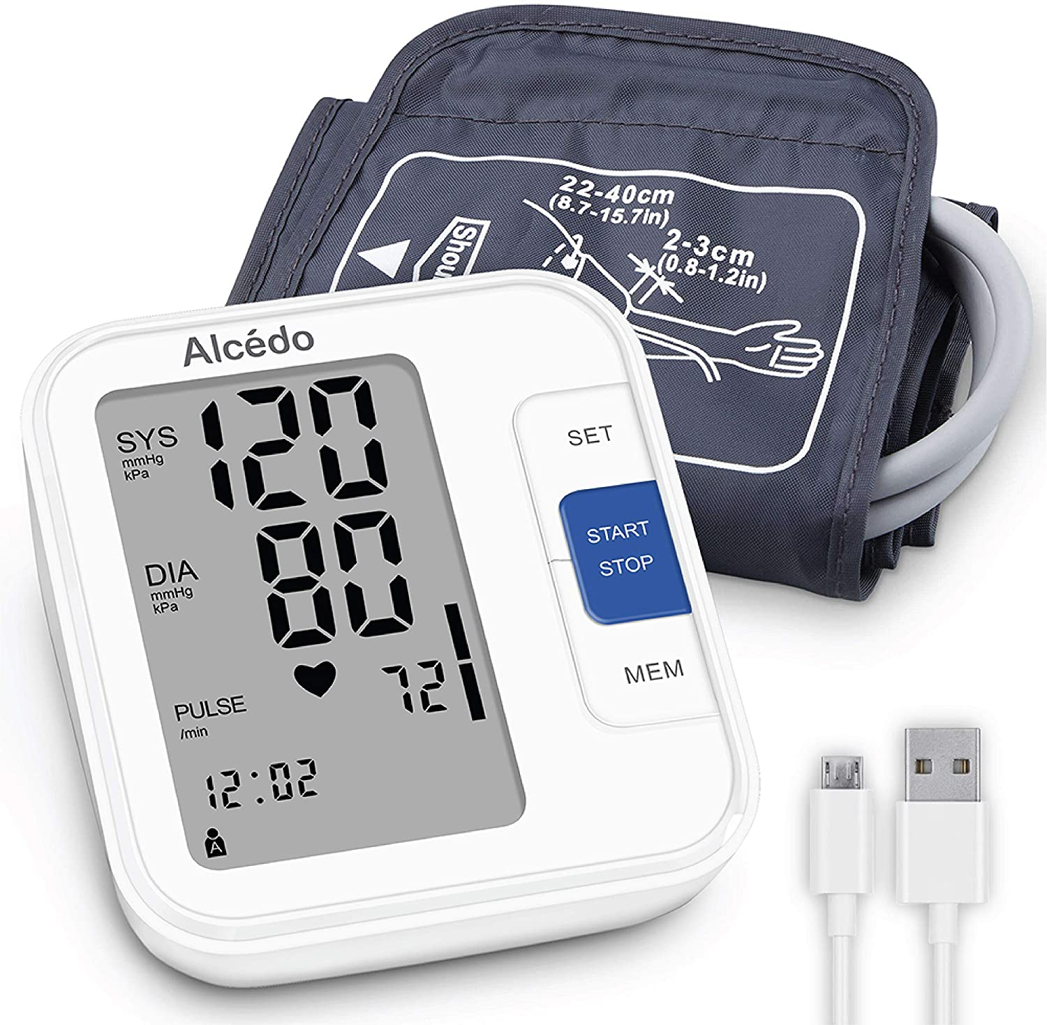 Alcedo Upper Arm Wide-Range Cuff Talking Blood Pressure Monitor
