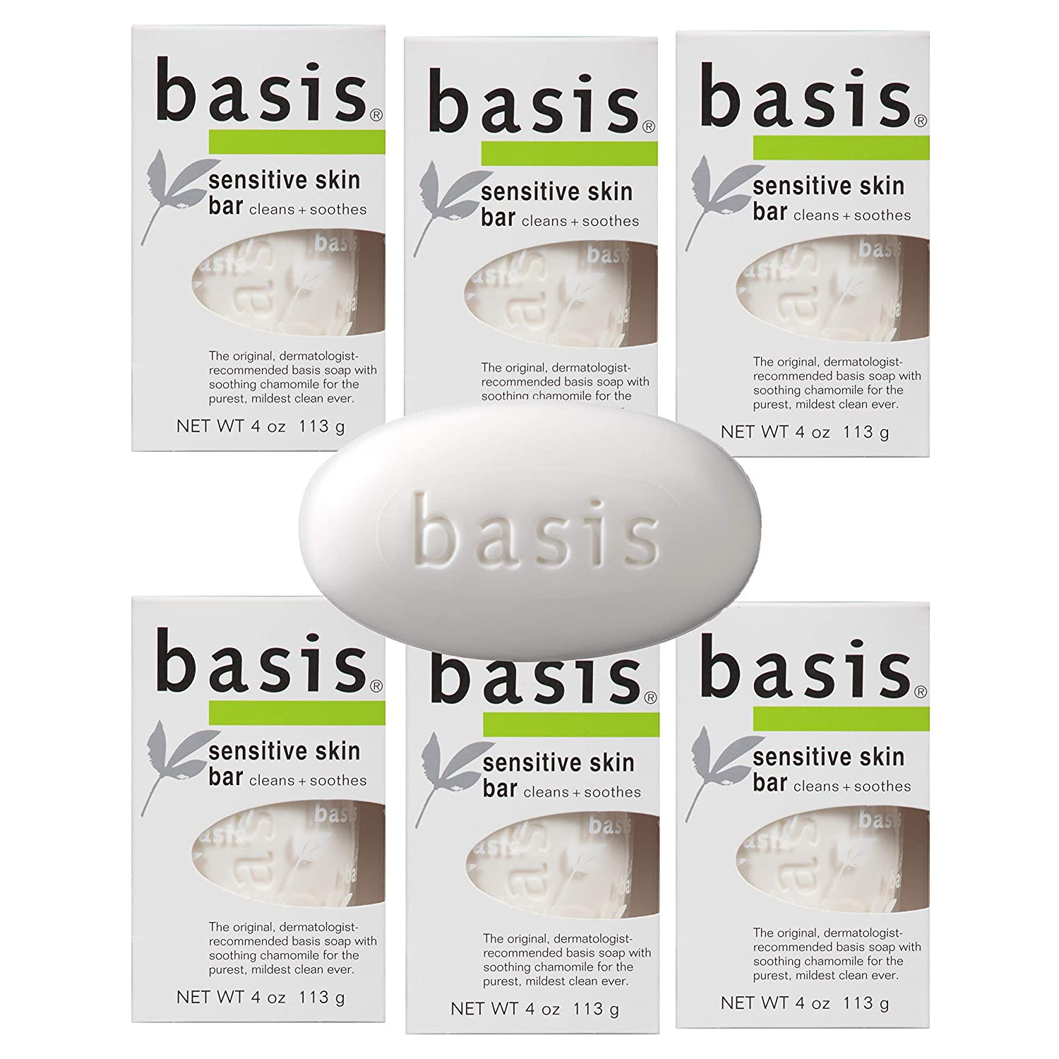 Basis Chamomile & Aloe Vera Sensitive Skin Bar Soap